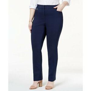 JM Collection Navy Blue Pants Straight Leg 18W